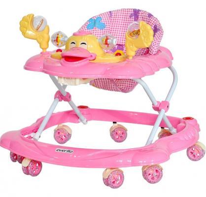 Ходунки Everflo Утенок (розовый) ходунки babyhit action розовый