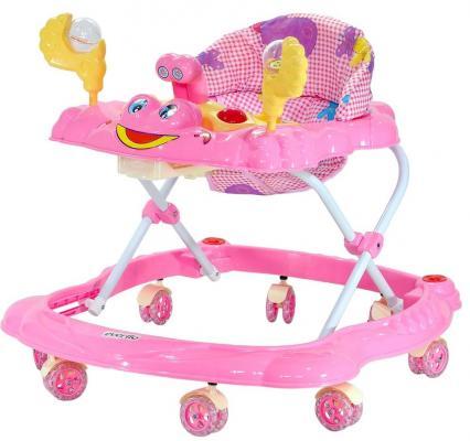 Ходунки Everflo Счастливый краб (розовый)