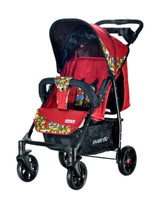 Фото - Прогулочная коляска Everflo Safari Luxe E-230 (red) коляска прогулочная everflo safari grey e 230 luxe