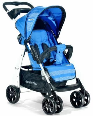 Фото - Прогулочная коляска Everflo Luxe (blue) коляска прогулочная everflo safari grey e 230 luxe