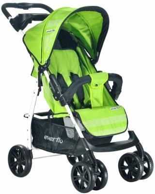Фото - Прогулочная коляска Everflo Luxe (green) коляска прогулочная everflo safari grey e 230 luxe