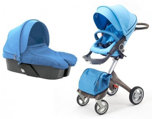 Купить Коляска 2-в-1 Everflo Dsland (blue), голубой, Коляски 2 в 1