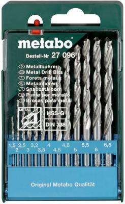 Набор сверел Metabo HSS-G 13шт 627096000 набор сверел metabo 13шт 627161000
