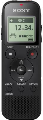 Цифровой диктофон Sony ICD-PX470 4Gb черный цифровой диктофон sony icd tx650b 16гб черный