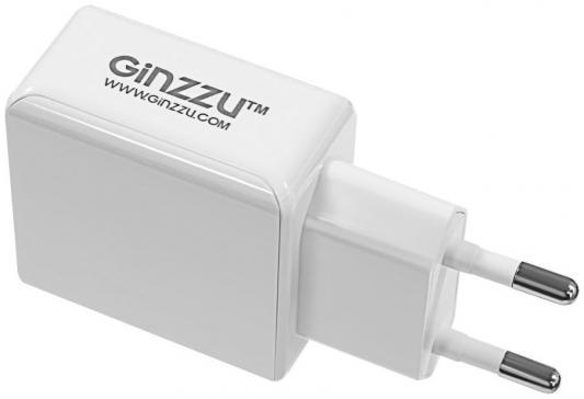 Сетевое зарядное устройство GINZZU GA-3313UW USB 3.1А белый сетевое зарядное устройство ginzzu ga 3003w usb 1 2a белый