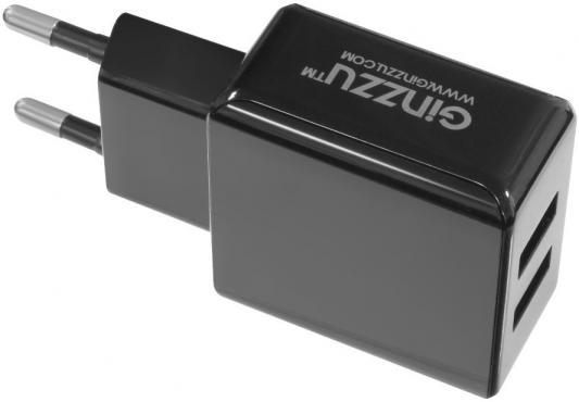 Сетевое зарядное устройство GINZZU GA-3311UB 2 х USB 3.1А черный сетевое зарядное устройство ginzzu ga 3311ub 2 х usb 3 1а черный