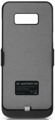 Чехол DF sBattery-20 для Samsung Galaxy S8 черный icarer wallet genuine leather phone stand cover for iphone 6s plus 6 plus marsh camouflage