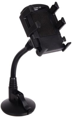 """Автомобильный держатель Prime Line 5501 для смартфонов 3.5""""-6"""" PU присоска гибкая штанга"""