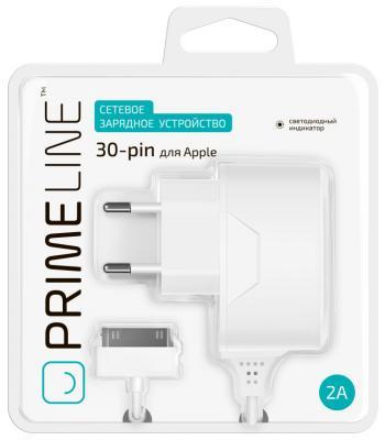 Сетевое зарядное устройство Prime Line 2308 30-pin Apple 2.1A белый сетевое зарядное устройство prime line 2300 30 pin для apple 1a белый