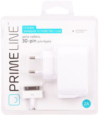 Сетевое зарядное устройство Prime Line 2315 30-pin Apple 2.1A белый сетевое зарядное устройство prime line 2300 30 pin для apple 1a белый