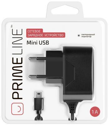 Сетевое зарядное устройство Prime Line 2303 miniUSB 1A черный