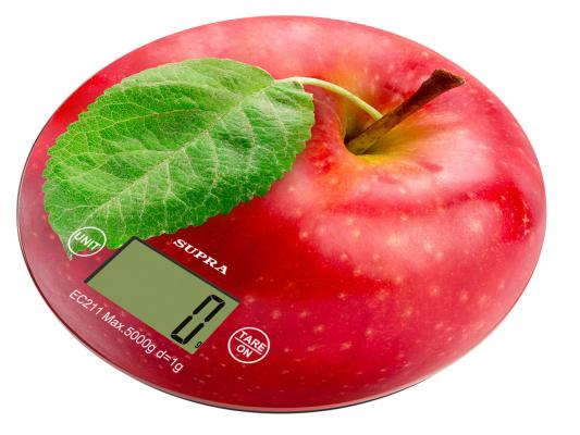 Весы кухонные Supra BSS-4300 красный
