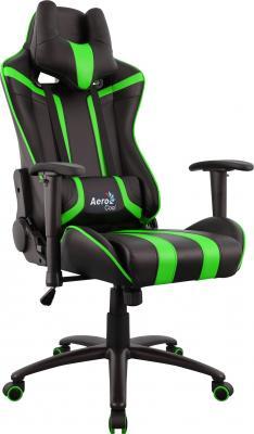 Кресло компьютерное игровое Aerocool AC120 AIR-BG черно-зеленое с перфорацией 4713105968347 цена