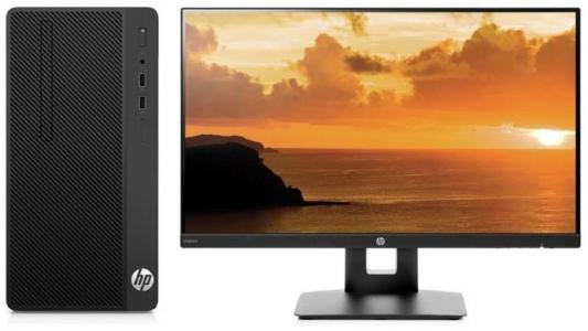 Системный блок HP 290 G1 MT i3-7100 3.9GHz 4Gb 500Gb HD630 DVD-RW Win10Pro черный + монитор VH240a 3EB98ES системный блок lenovo s200 mt j3710 4gb 500gb dvd rw dos клавиатура мышь черный 10hq001fru