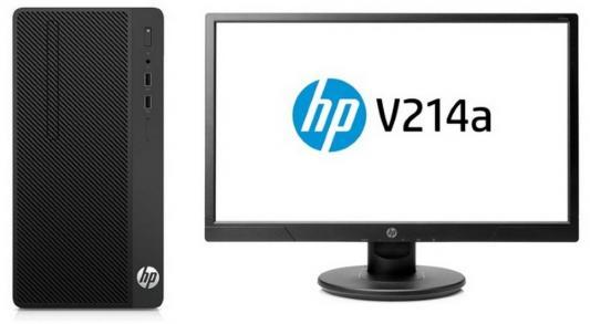 Системный блок HP 290 G1 MT i3-7100 3.9GHz 8Gb 128Gb SSD HD630 DVD-RW Win10Pro черный + монитор V214a 2MT20ES компьютер hp 290 g1 mt 1qn73ea i3 7100 3 9 4gb 500gb int intel hd 630 dvd rw kb m dos black монитор v214a