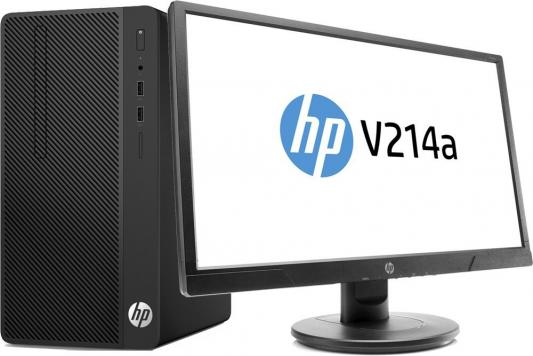 Системный блок HP 290 G1 MT i3-7100 3.9GHz 8Gb 1Tb HD630 DVD-RW DOS черный + монитор V214a 2MT19ES диски dvd rw 8gb в минске