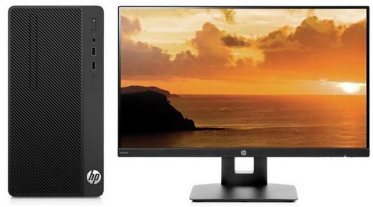 Системный блок HP 290 G1 MT i5-7500 3.4GHz 4Gb 128Gb SSD HD630 DVD-RW Win10Pro черный + монитор VH240a 3EB99ES компьютер hp prodesk 400 g4 intel core i5 7500 ddr4 8гб 1000гб intel hd graphics 630 dvd rw windows 10 professional черный [1jj50ea]