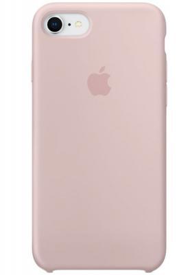 цена на Чехол-накладка Apple Silicone Case для iPhone 8 iPhone 7 розовый песок MQGQ2ZM/A