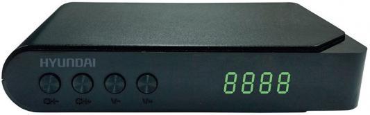 Тюнер цифровой DVB-T2 Hyundai H-DVB200 черный цена и фото