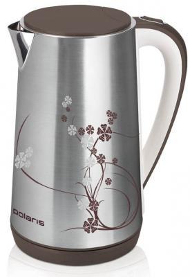 Чайник Polaris PWK 1726CA 2400 Вт серебристый рисунок 1.7 л нержавеющая сталь