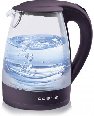 Чайник Polaris PWK 1767CGL 2200 Вт фиолетовый 1.7 л пластик/стекло чайник polaris pwk 1754 clwr 2200 вт 1 7 л пластик белый синий