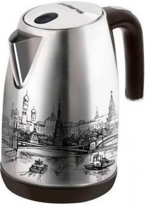 Чайник Polaris PWK 1856CA 2000 Вт с рисунком 1.8 л нержавеющая сталь кофеварка polaris pcm 0210 450 вт черный