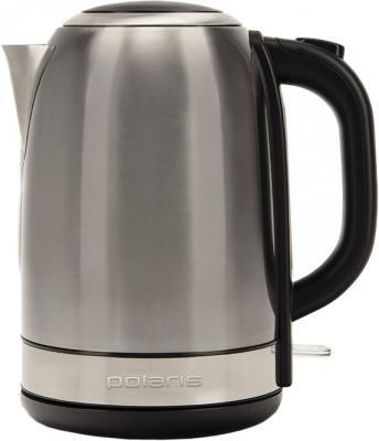 Чайник Polaris PWK 1859CA 2150 Вт серебристый матовый чёрный 1.8 л нержавеющая сталь чайник polaris pwk 1765car 2200вт 1 7л металл черный серебристый
