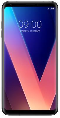 Смартфон LG V30+ черный 6 128 Гб NFC LTE Wi-Fi GPS 3G LGH930DS.ACISBK смартфон asus zenfone zoom zx551ml белый 5 5 128 гб nfc lte wi fi gps 3g 90az00x2 m01380