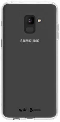 цена на Чехол (клип-кейс) Samsung для Samsung Galaxy A8 WITS SOFT COVER прозрачный (GP-A530WSCPAAA)