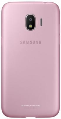 Чехол (клип-кейс) Samsung для Samsung Galaxy J2 (2018) Jelly Cover розовый (EF-AJ250TPEGRU) чехол клип кейс samsung clear cover для samsung galaxy s8 черный [ef qg955cbegru]