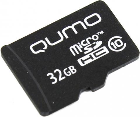 Карта памяти Micro SDHC 32Gb class 10 QUMO QM32GMICSDHC10NA силовой удлинитель на катушке к1 0 25 lux 4606400417552
