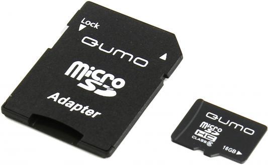 Карта памяти Micro SDHC 16Gb QUMO QM16GMICSDHC6 HC6