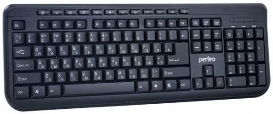 Клавиатура проводная Perfeo Texter PF-004 USB черный