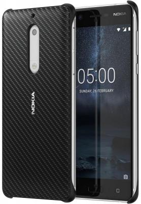 Чехол Nokia Carbon Fibre Design Case Onyx для Nokia 5 черный минидинамики nokia md6 электронный рай