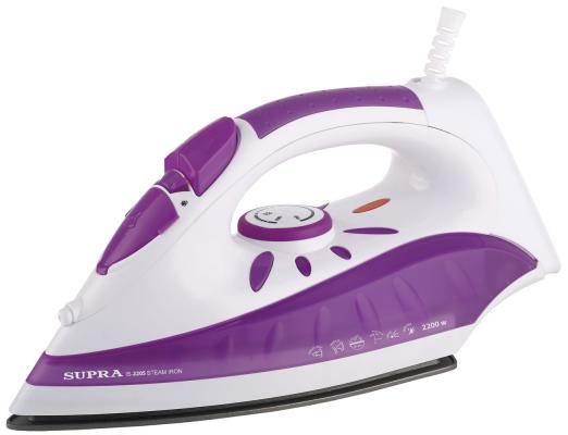 все цены на Утюг Supra IS-2205 2200Вт белый фиолетовый онлайн