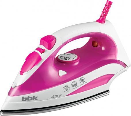 Утюг BBK ISE-2200 2200Вт белый розовый