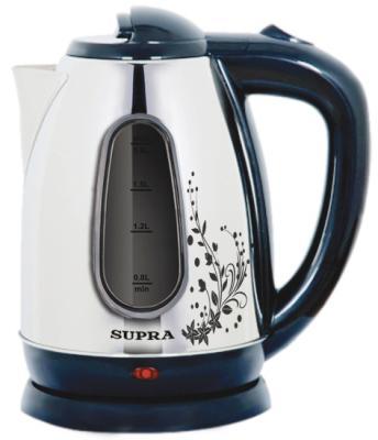 Чайник Supra KES-1834W 2200 Вт серебристый чёрный 1.8 л нержавеющая сталь термопот supra tps 3016 730 вт 4 2 л металл серебристый