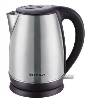 Чайник Supra KES-1838 2200 Вт серебристый чёрный 1.8 л нержавеющая сталь термопот supra tps 3016 730 вт 4 2 л металл серебристый