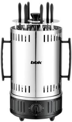 Электрошашлычница BBK BBQ603T серебристый чёрный цена и фото