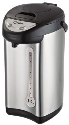 Термопот Orion ТП-06-6Л 800 Вт серебристый чёрный 6 л металл/пластик термопот orion тп 05 5л 800 вт серебристый чёрный 5 л металл пластик