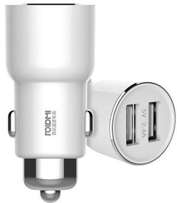 Автомобильное зарядное устройство Xiaomi Roidmi 2 USB 2А белый зарядное устройство others silive usb 16000mah iphone xiaomi samsung htc lg s457 s