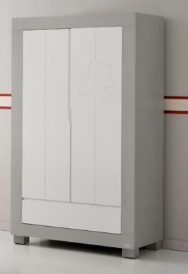 Шкаф двустворчатый Micuna Neus (grey/white) cilek шкаф двустворчатый cilek cupcake арт cc 1001