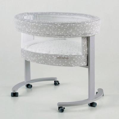 Колыбель с деревянной подставкой c LED системой Micuna Smart Fresh (stars/white) колыбель micuna mini fresh с текстилем мо 1560 white stars