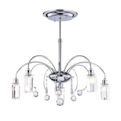 Подвесная люстра Freya Fountain FR5605-CL-05-CH потолочная люстра freya fr5102 cl 04 ch