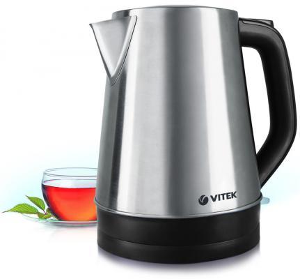 Чайник Vitek VT-7040(ST) 2200 Вт серебристый чёрный 1.7 л нержавеющая сталь чайник mystery mek 1601 1800 вт серебристый чёрный 1 7 л нержавеющая сталь