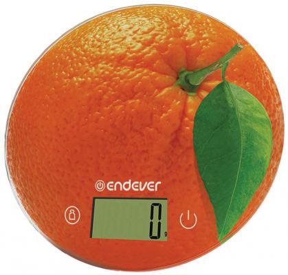 Весы кухонные ENDEVER Skyline KS-519 оранжевый рисунок цена и фото