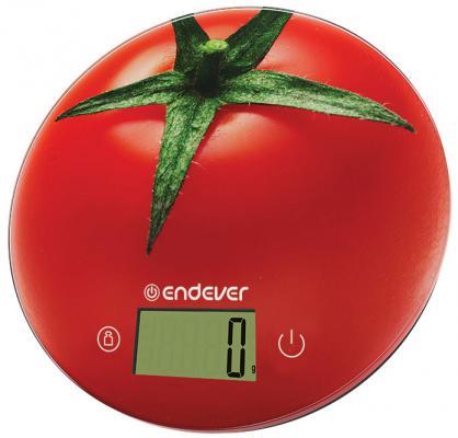 Весы кухонные ENDEVER Skyline KS-520 красный рисунок