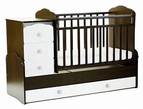 Кровать-трансформер СКВ-9 Жираф (венге-белый)