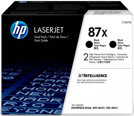 Картридж HP 87X CF287XF для HP Laserjet Enterprise M506 - M527 Pro M501 черный 18000стр двойная упаковка hp hp 87x cf287x