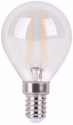 Лампа светодиодная филаментная E14 5W 4100К шар матовый 105201205